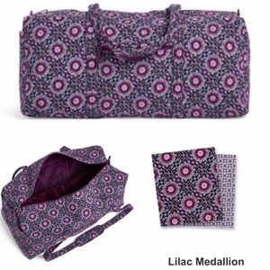 Vera Bradley XL Duffel Travel Bag Lilac Medallion